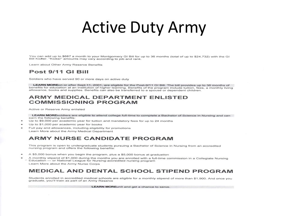 Active Duty Army