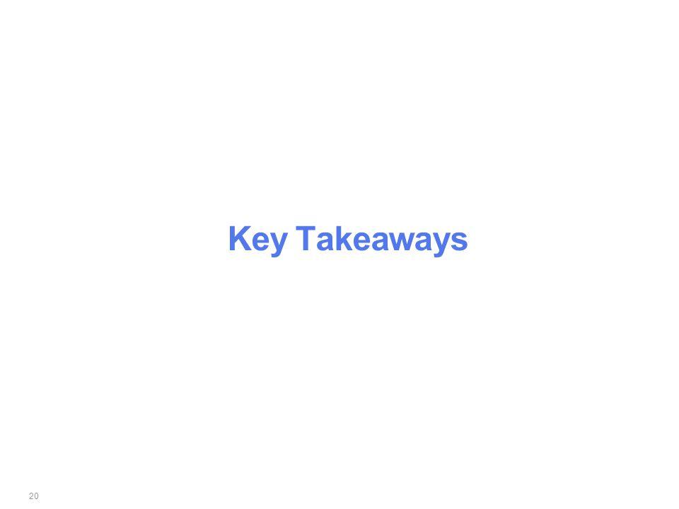 20 Key Takeaways