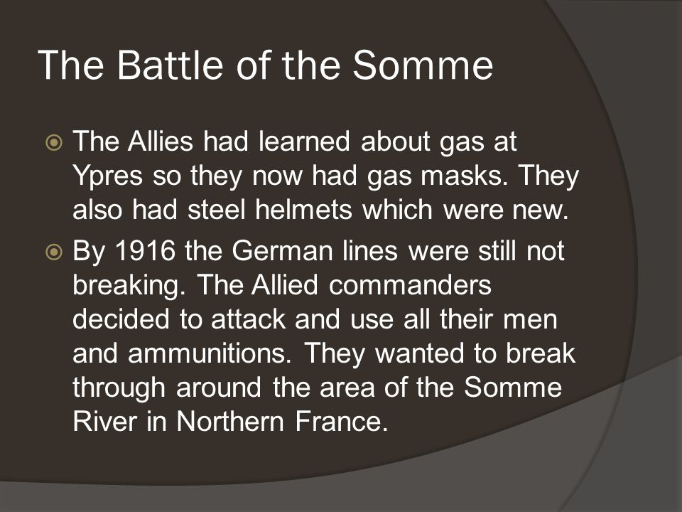 The Attack  On April 9 th 1917, in the middle of a sleet storm, Canadian soldiers crept up the hill in the middle of their own exploding shells.