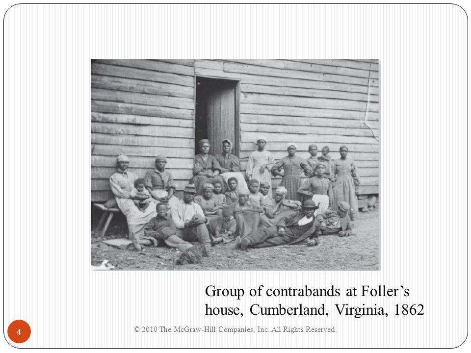 4 Group of contrabands at Foller's house, Cumberland, Virginia, 1862