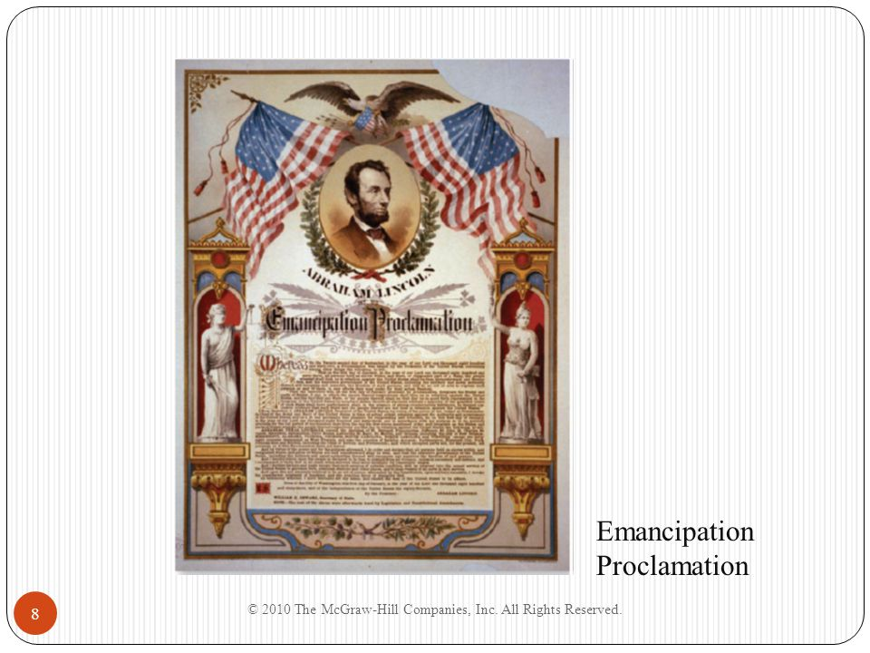 8 Emancipation Proclamation