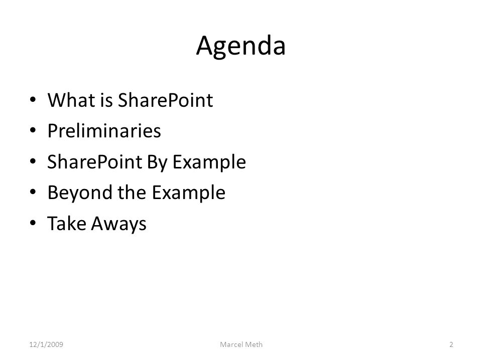SharePoint by Example (Eco Teams) 6 SharePoint Analyst – User can connect web parts so that they pass data to each other.