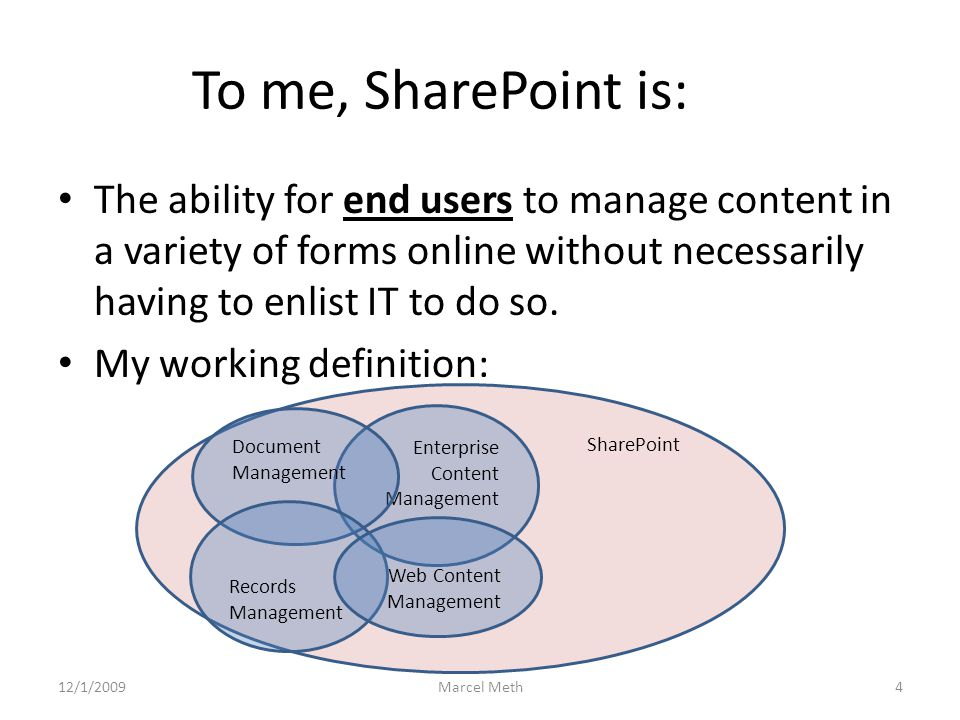SharePoint by Example (Eco Teams) 7 Comparing Excel with a SharePoint list – Excel provides a much richer user experience with immediate graphical feedback and totals.