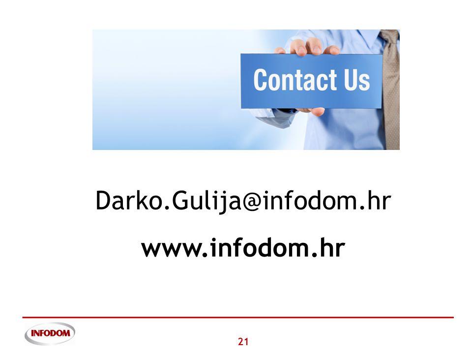 21 Darko.Gulija@infodom.hr www.infodom.hr