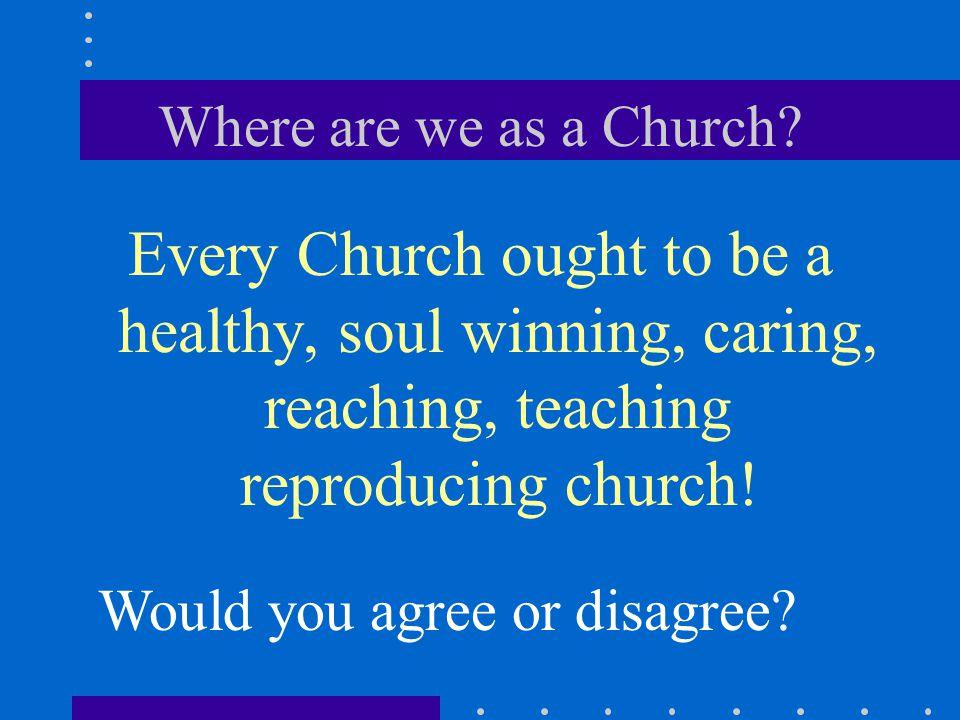 Where are we as a Church.
