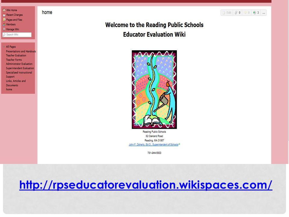 http://rpseducatorevaluation.wikispaces.com/