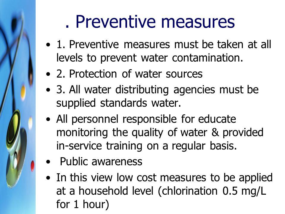 Preventive measures 1.
