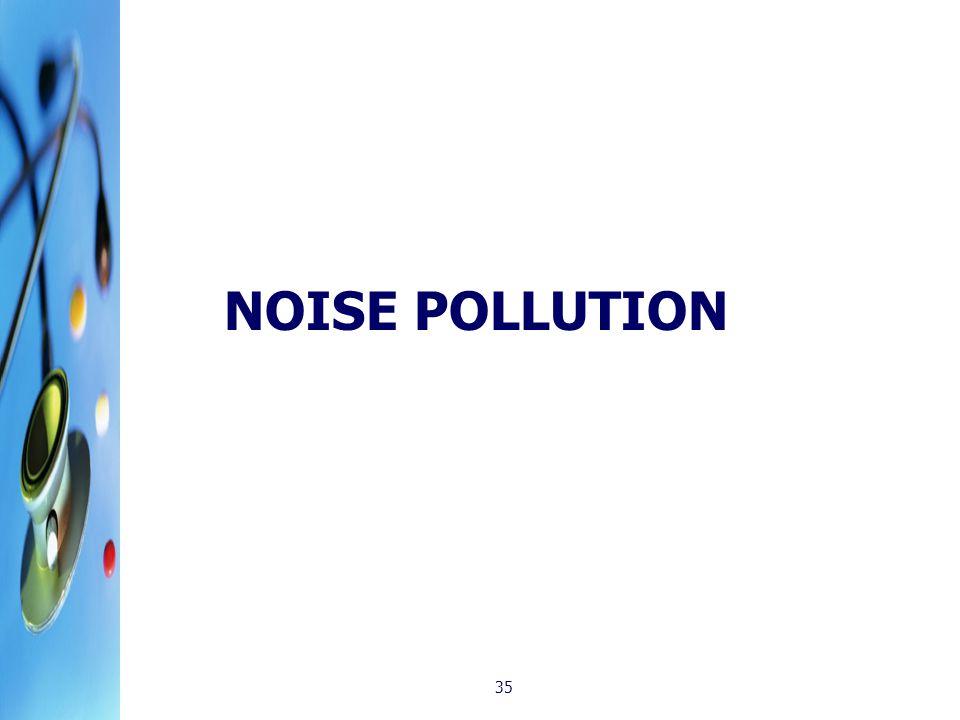 NOISE POLLUTION 35