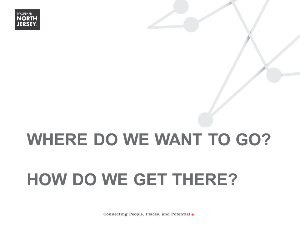 WHERE DO WE WANT TO GO? HOW DO WE GET THERE?
