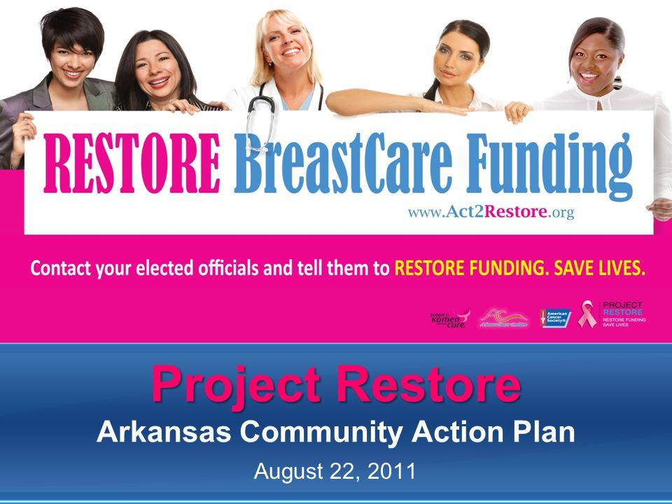 Project Restore Project Restore Arkansas Community Action Plan August 22, 2011