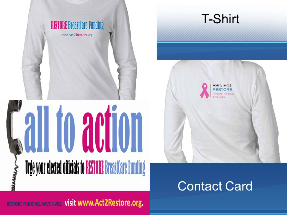 T-Shirt Contact Card