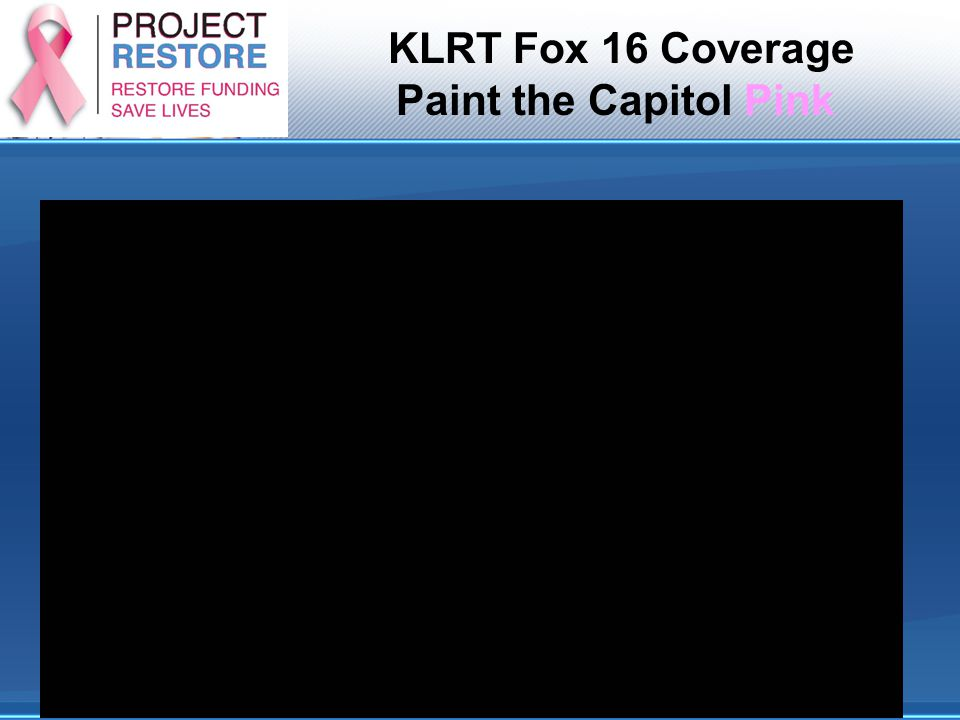 KLRT Fox 16 Coverage Paint the Capitol Pink