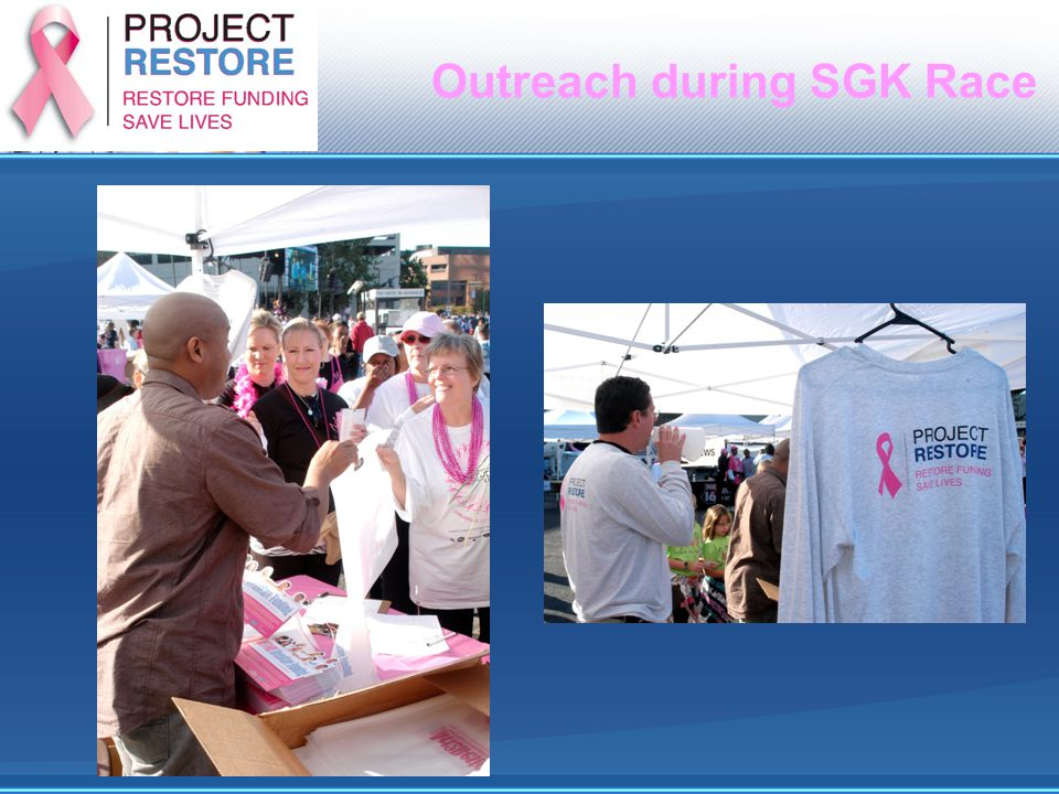 Outreach during SGK Race