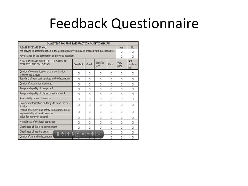 Feedback Questionnaire