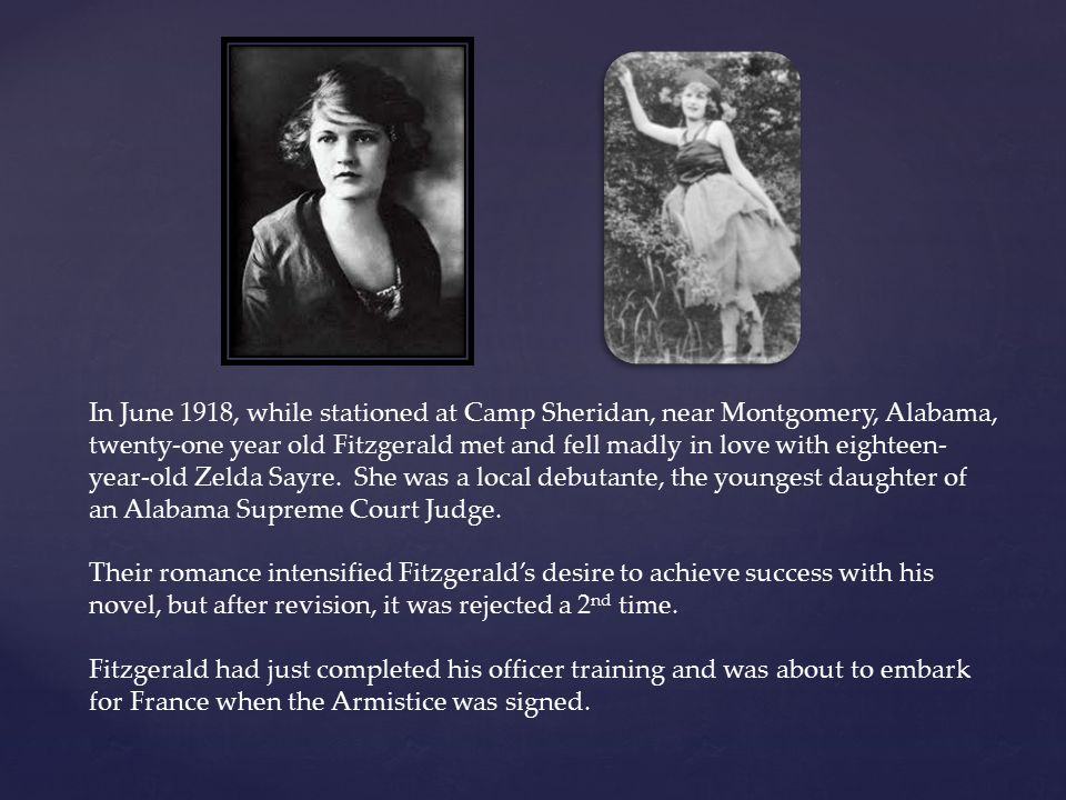 After being discharged from the Army in 1919, Fitzgerald went to New York to seek his fortune so that he could marry Zelda.