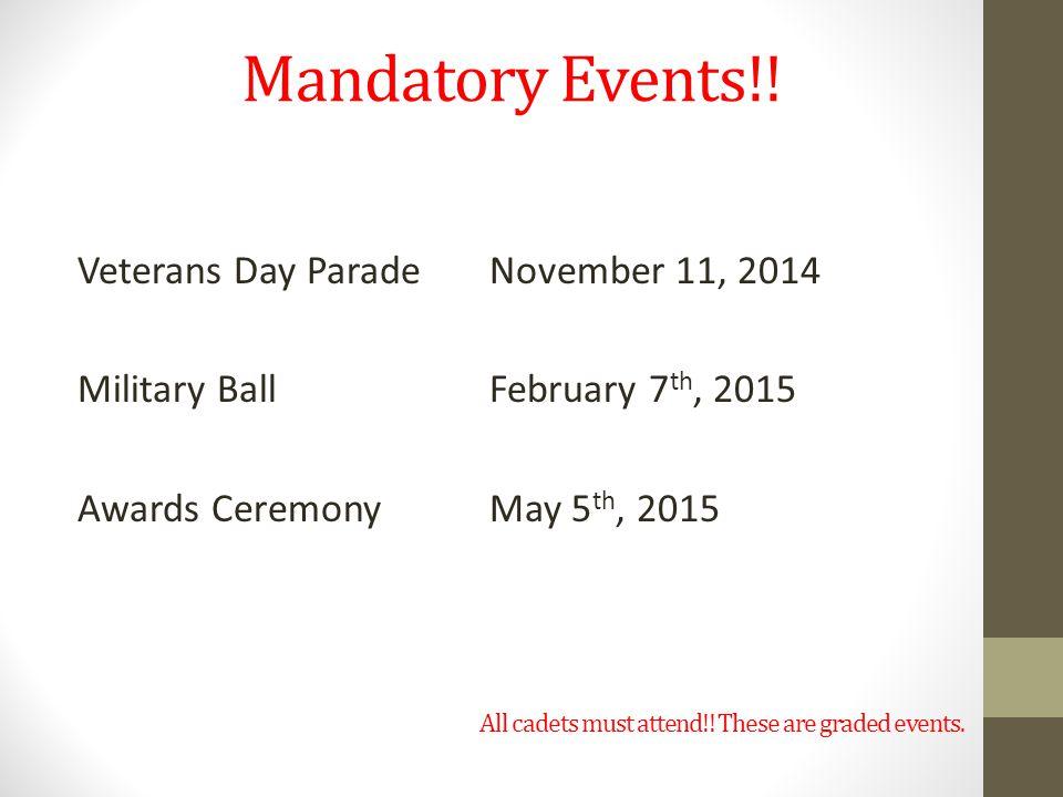Mandatory Events!.
