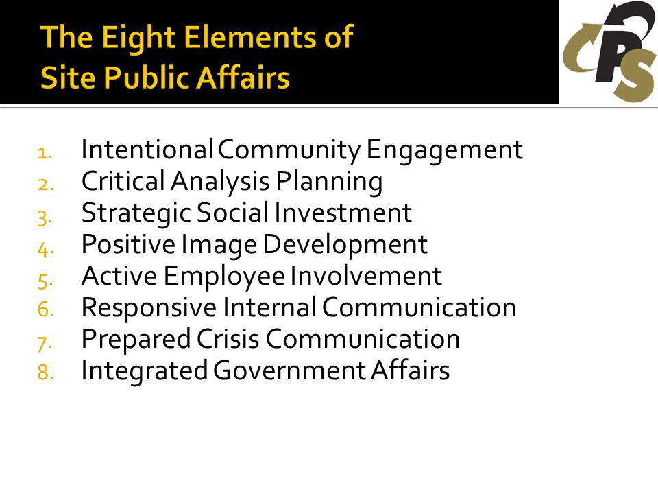 1. Intentional Community Engagement 2. Critical Analysis Planning 3.