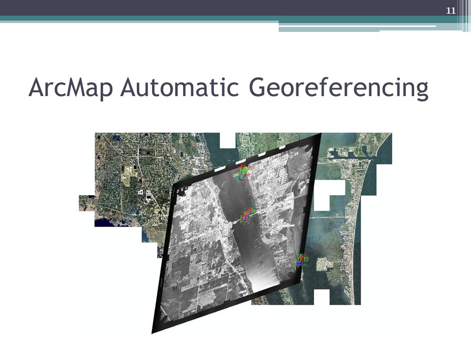 ArcMap Automatic Georeferencing 11