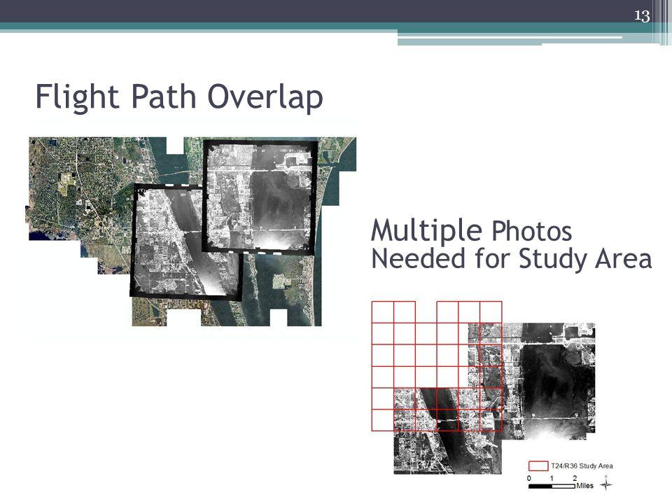 Flight Path Overlap 13 Multiple Photos Needed for Study Area