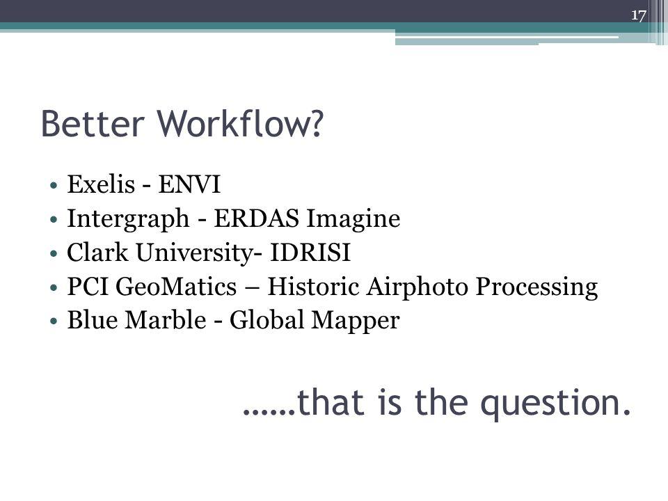 Better Workflow.