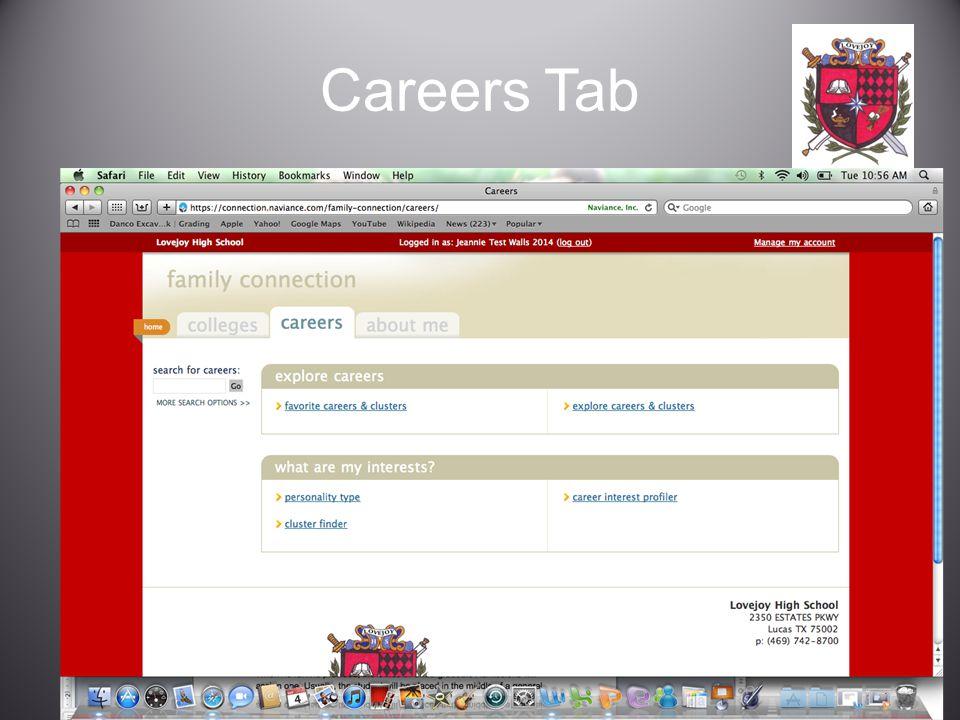 Careers Tab