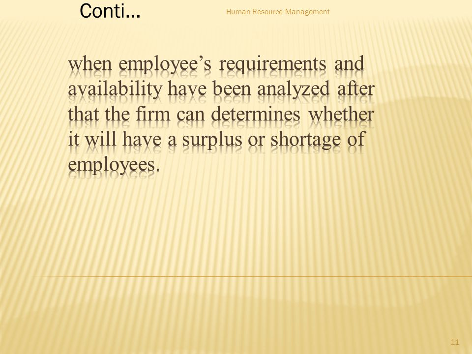 Conti… 11 Human Resource Management