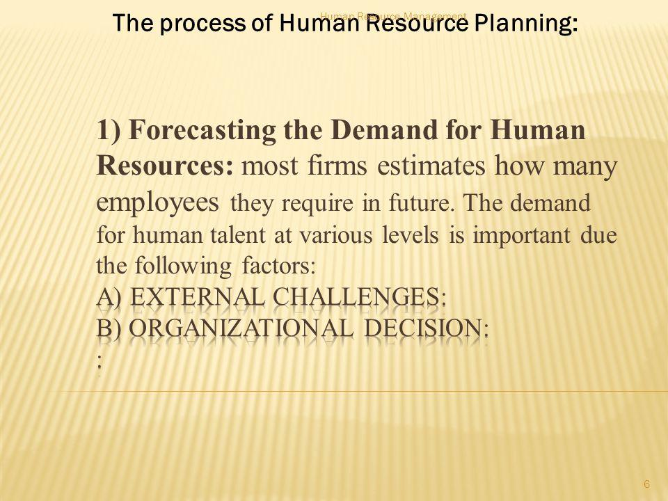 External challenges 7 Human Resource Management
