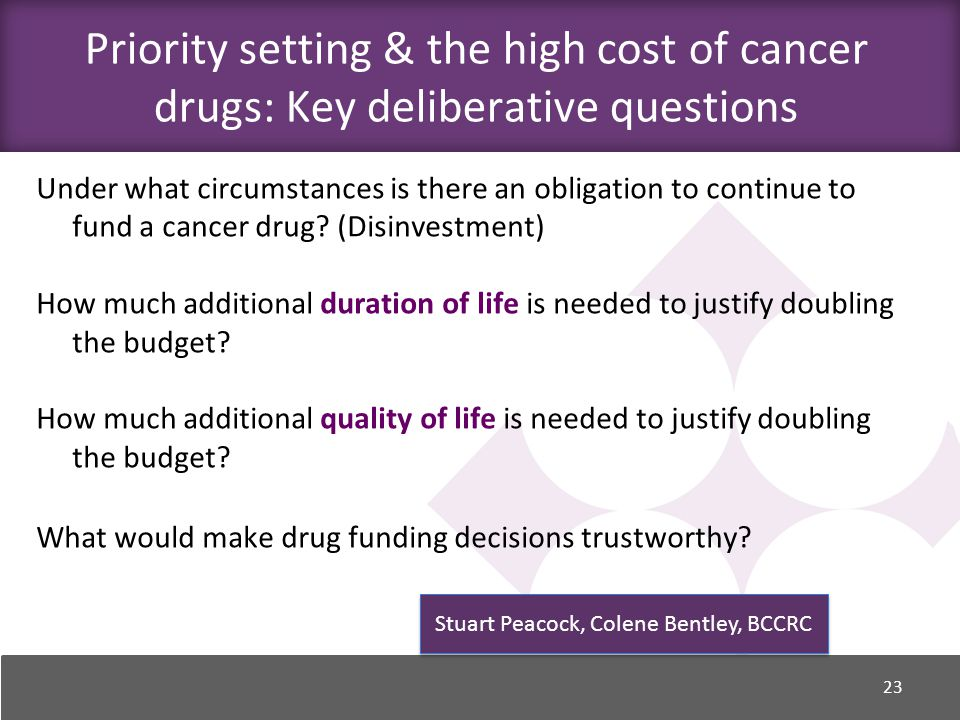 Under what circumstances is there an obligation to continue to fund a cancer drug.