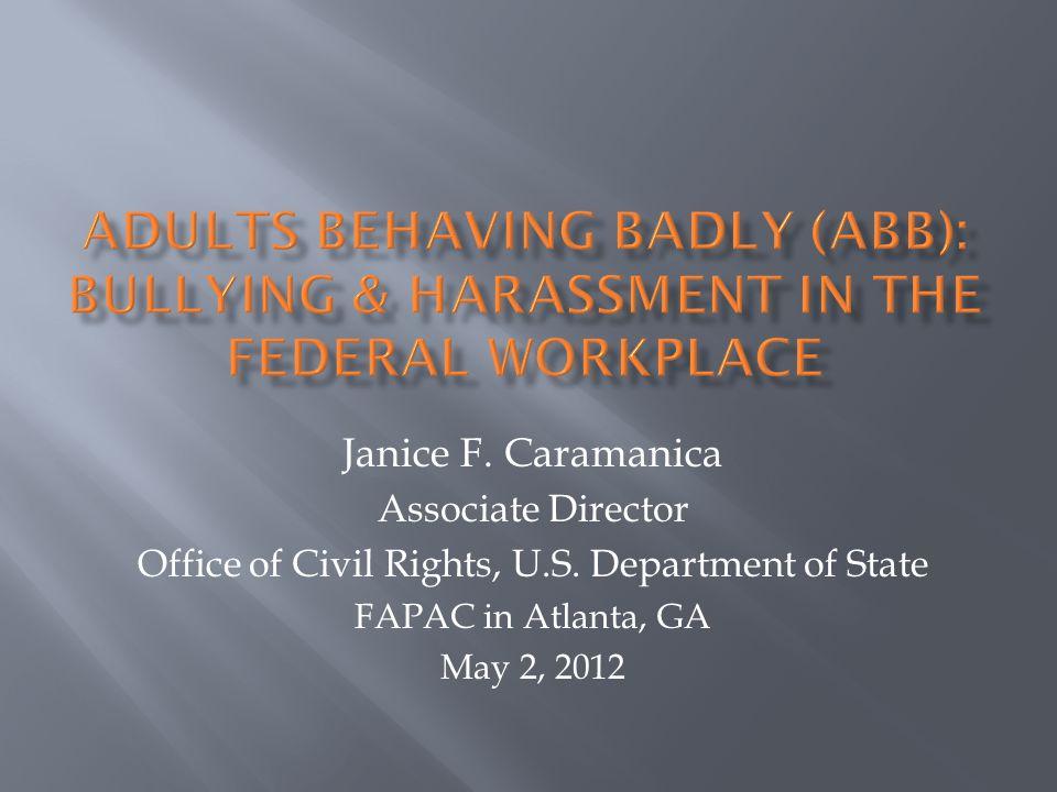 Janice F. Caramanica Associate Director Office of Civil Rights, U.S.