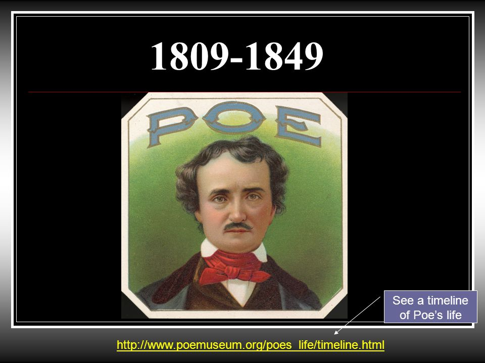 Some of Poe's Works The Fall of the House of Usher The Tell Tale Heart The Black Cat Annabel Lee The Raven The Bells The Pit and The Pendulum