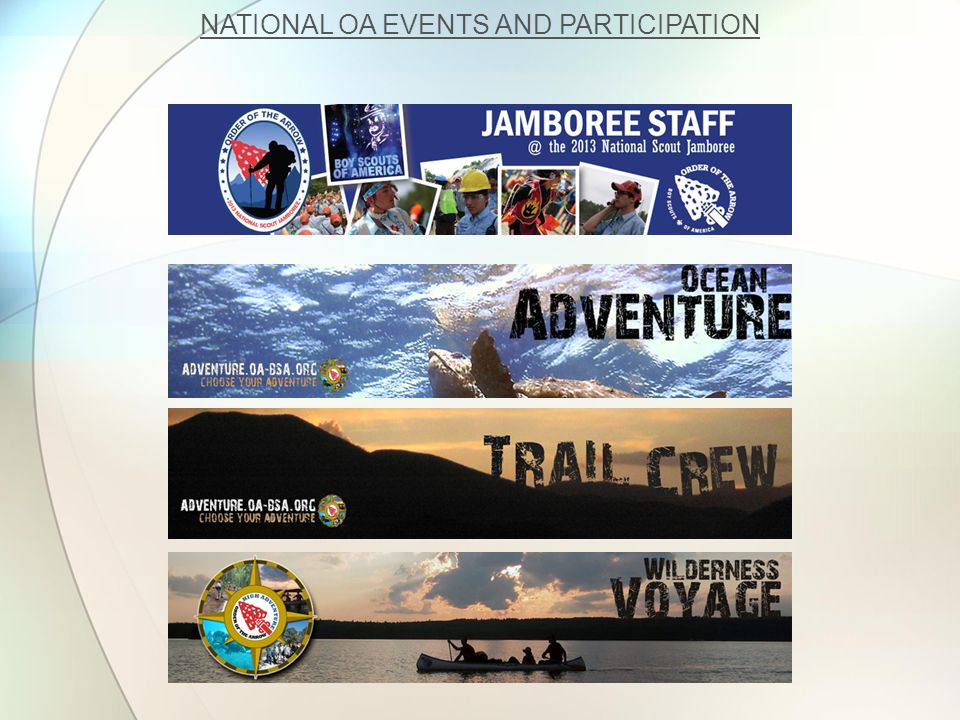 NATIONAL OA EVENTS AND PARTICIPATION