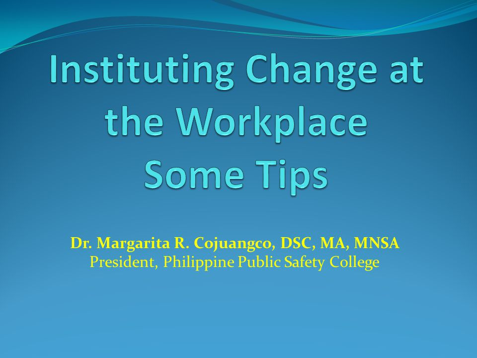 Dr. Margarita R. Cojuangco, DSC, MA, MNSA President, Philippine Public Safety College