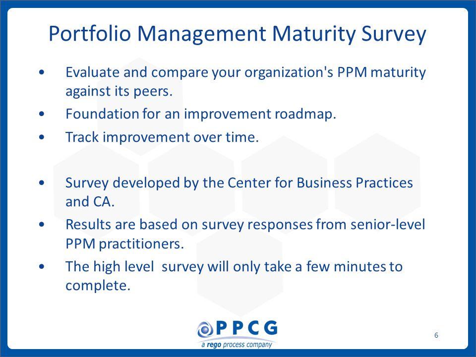 ppmprocessconsulting.com1.888.998.0539 7 What is Your Portfolio Management Maturity Level.