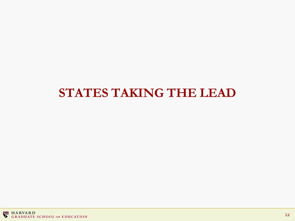 12 STATES TAKING THE LEAD