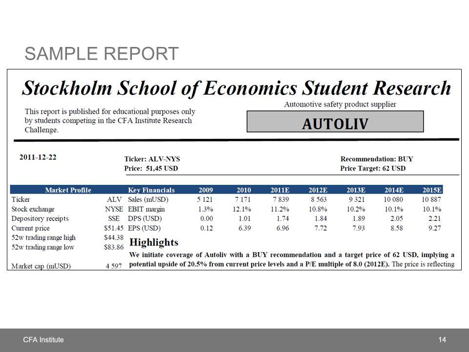 SAMPLE REPORT 14