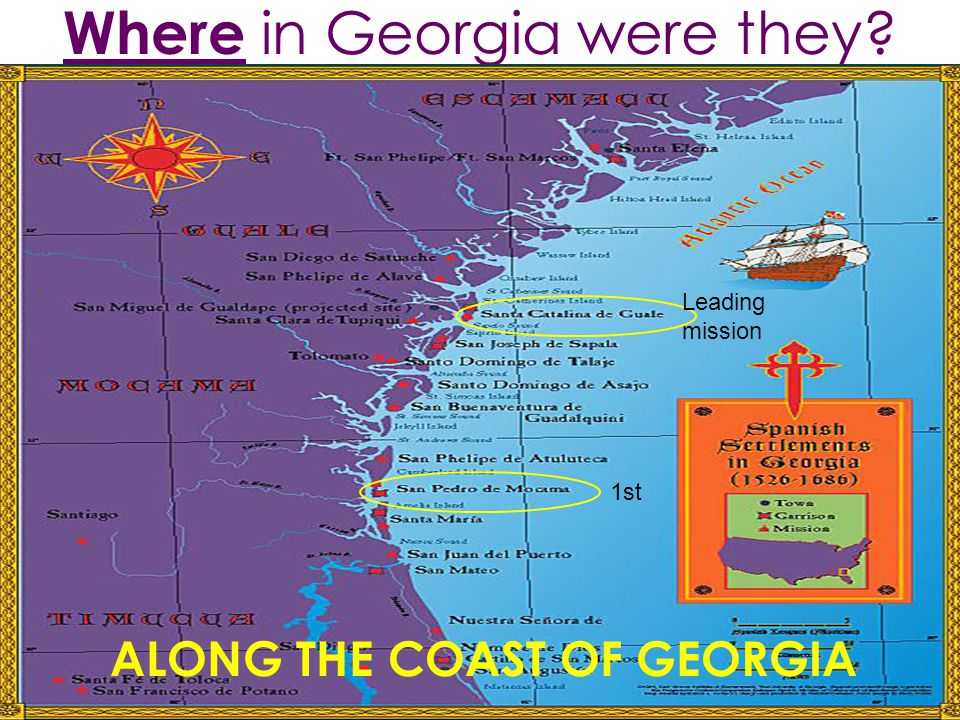 Where in Georgia were they ALONG THE COAST OF GEORGIA 1st Leading mission
