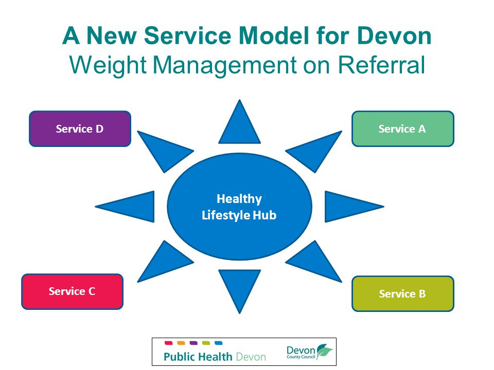A New Service Model for Devon Weight Management on Referral Healthy Lifestyle Hub Service AService D Service B Service C