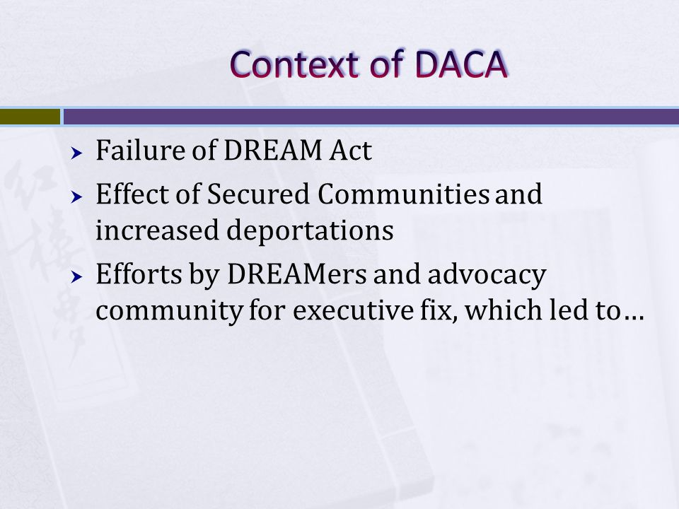  DACA is not a statute, regulation, or an Executive Order.