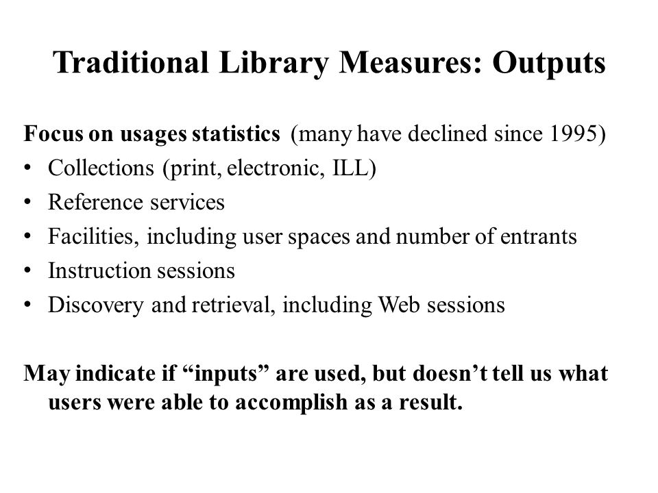 Library Users in the Networked World (Dempsey et al 2007) Personal search replaces 'ask a librarian' Global search of the global library – If there's no response in 3 seconds, try elsewhere Then: Resources scarce, attention abundant Now: Attention scarce, resources abundant Social networking/communication - wikis, blogs Where's the text.
