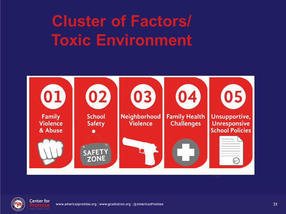 31 Cluster of Factors/ Toxic Environment