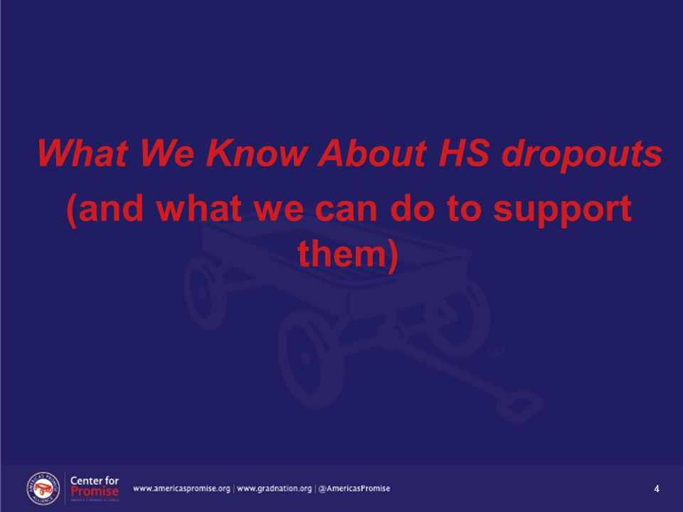 4 What We Know About HS dropouts (and what we can do to support them)