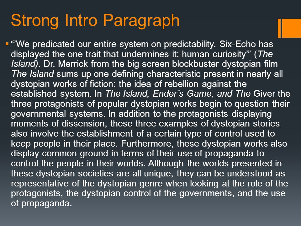 dystopian essay