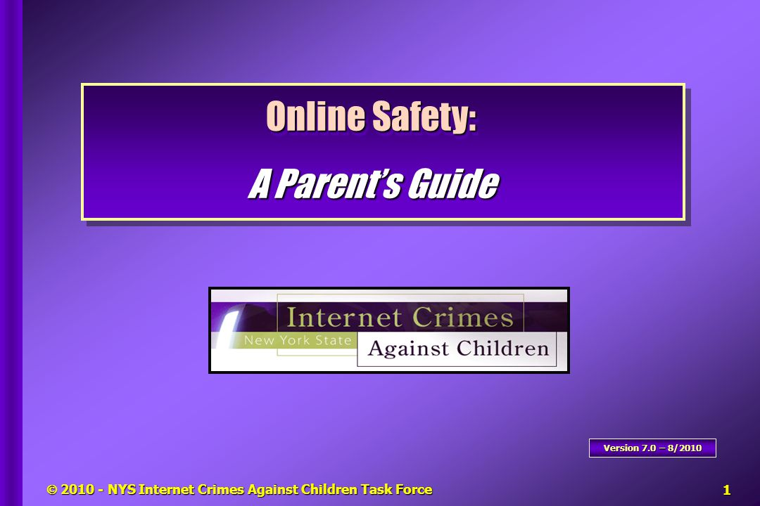  2010 - NYS Internet Crimes Against Children Task Force 1 in 7 children (13%) received sexual solicitation or were approached within the last year.1 in 7 children (13%) received sexual solicitation or were approached within the last year.