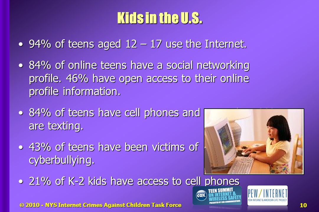  2010 - NYS Internet Crimes Against Children Task Force Kids in the U.S.