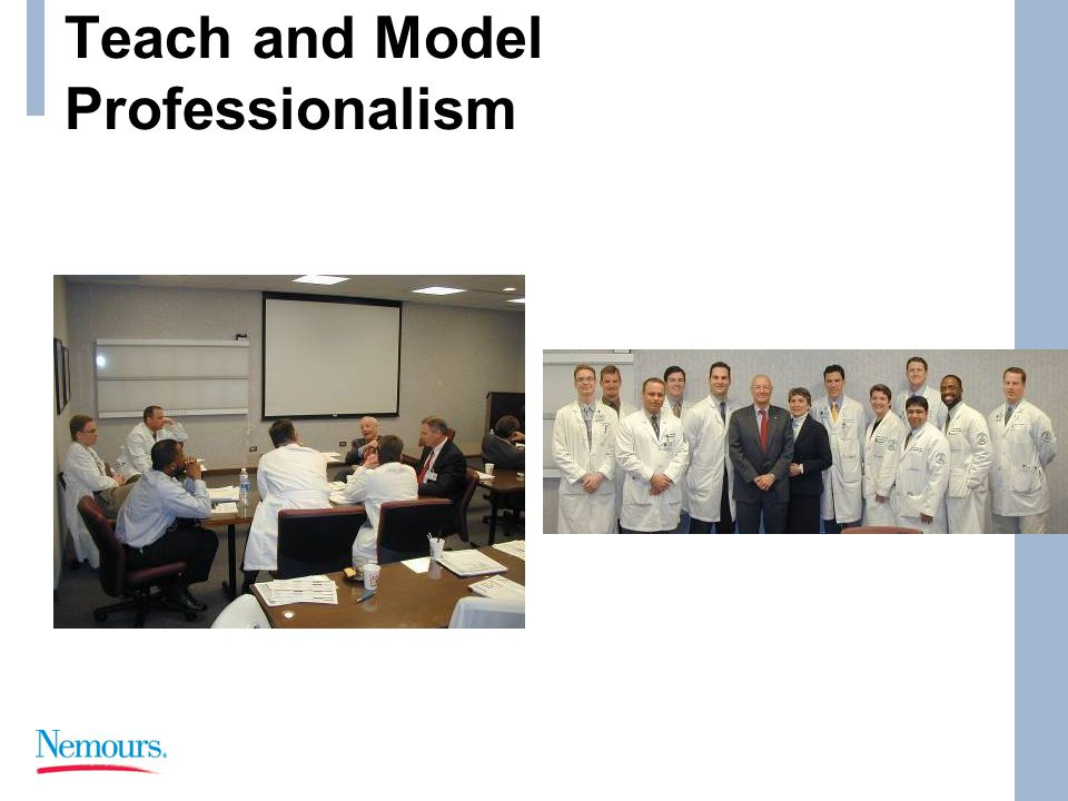 Teach and Model Professionalism