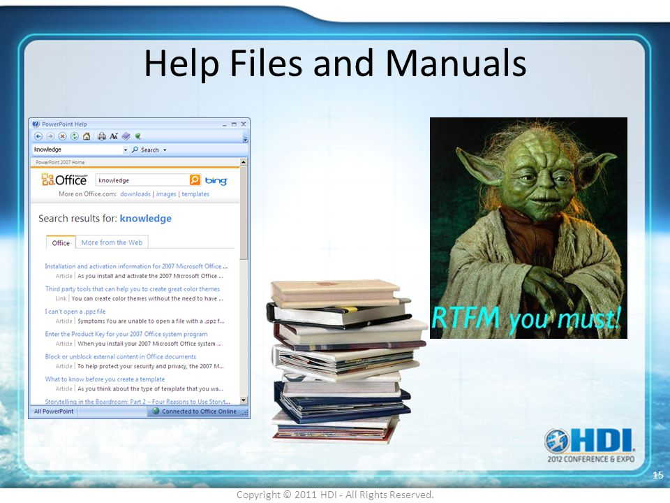 Help Files and Manuals Copyright © 2011 HDI - All Rights Reserved. 15