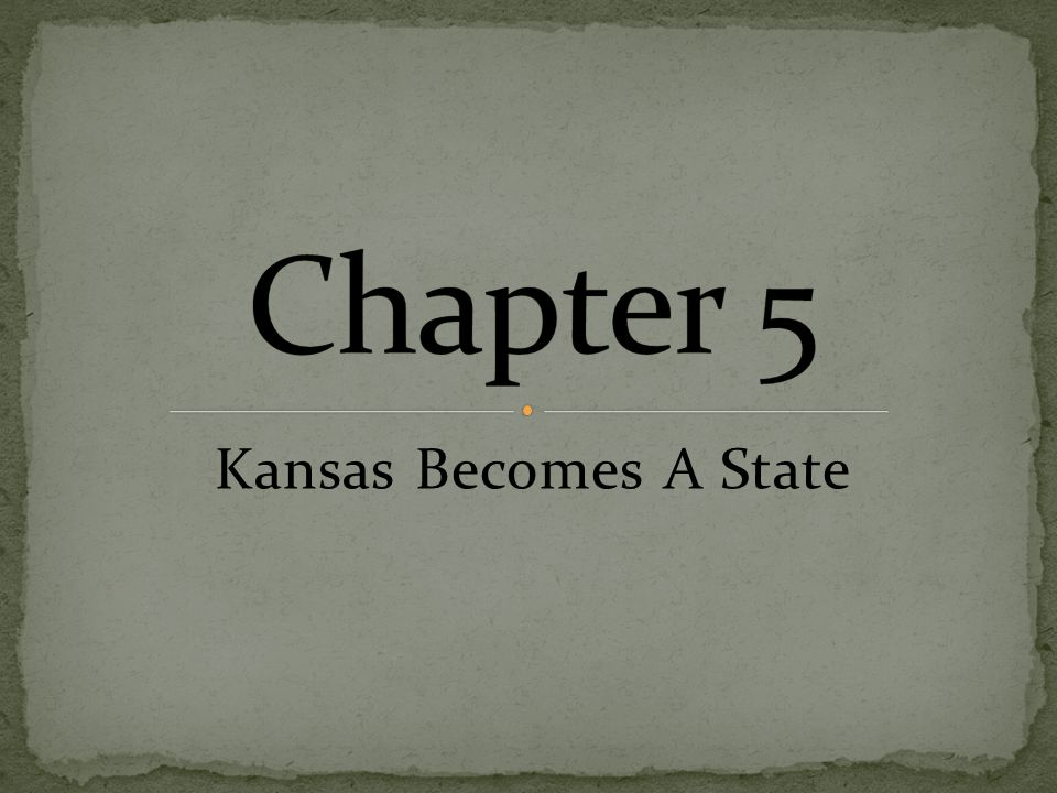 Kansas Becomes A State