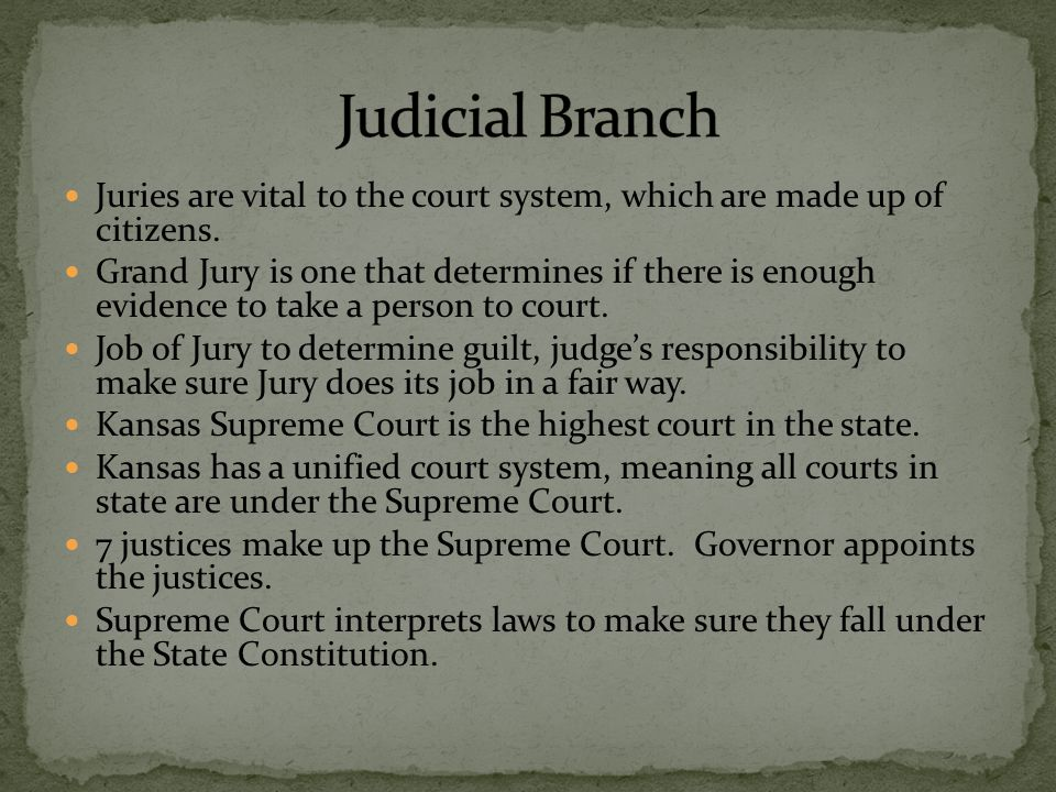 Juries are vital to the court system, which are made up of citizens. Grand Jury is one that determines if there is enough evidence to take a person to