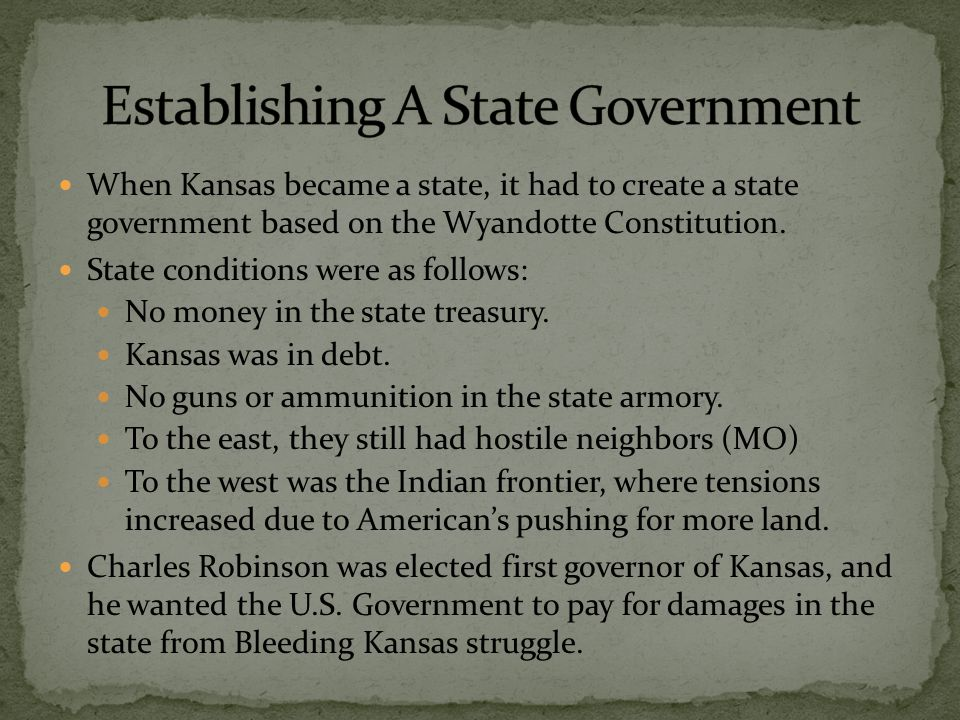 Written in Latin meaning to the stars through difficulty. John James Ingalls proposed the motto while he was secretary to the first Kansas Senate.