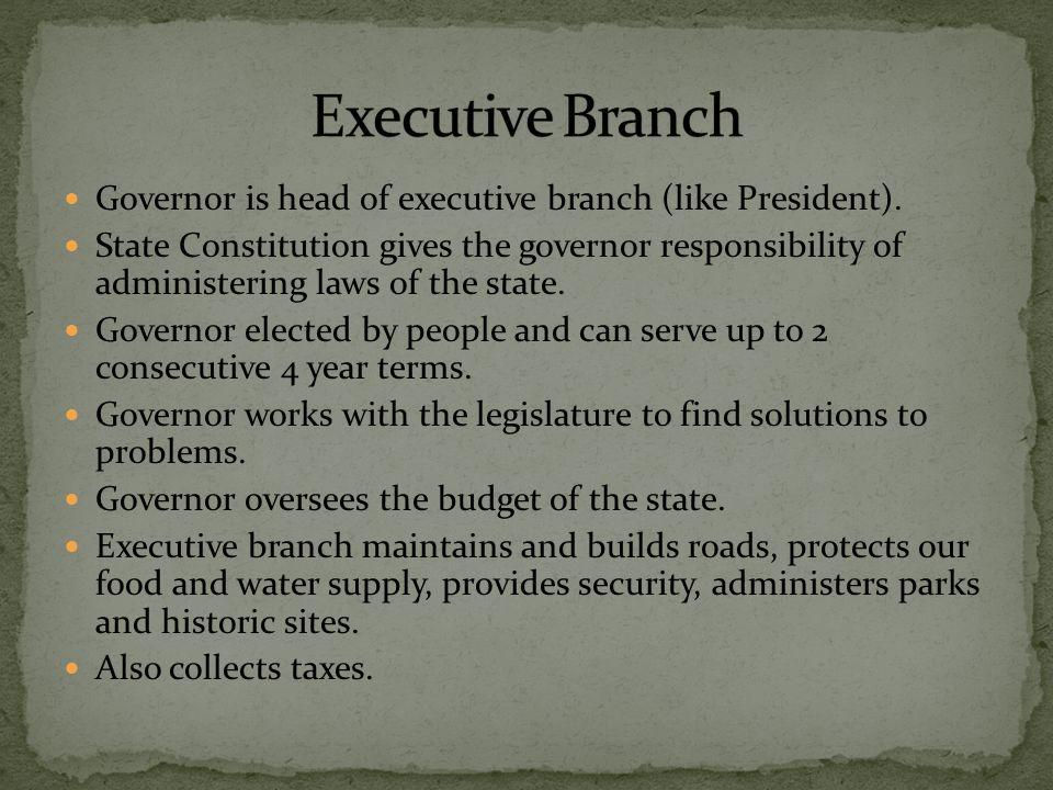 State Senate and House of Representatives make up the legislature.